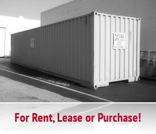 Portable storage & shipping containers for rent or lease from Xtra Storage